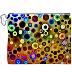 Colourful Circles Pattern Canvas Cosmetic Bag (xxxl)  by Costasonlineshop