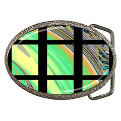 Black Window With Colorful Tiles Belt Buckles by theunrulyartist