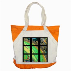 Black Window With Colorful Tiles Accent Tote Bag  by theunrulyartist