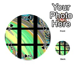 Black Window With Colorful Tiles Playing Cards 54 (round)  by theunrulyartist