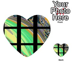 Black Window With Colorful Tiles Multi Purpose Cards (heart)  by theunrulyartist