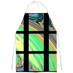 Black Window With Colorful Tiles Full Print Aprons by theunrulyartist