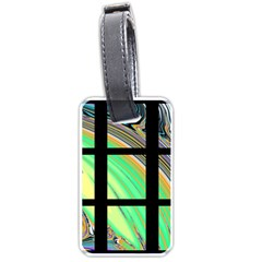 Black Window With Colorful Tiles Luggage Tags (one Side)  by theunrulyartist