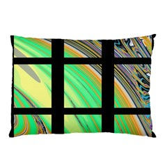 Black Window With Colorful Tiles Pillow Cases (two Sides) by theunrulyartist