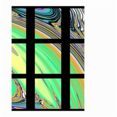 Black Window With Colorful Tiles Small Garden Flag (two Sides) by theunrulyartist