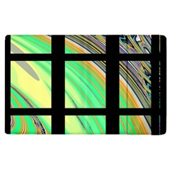 Black Window With Colorful Tiles Apple Ipad 3/4 Flip Case by theunrulyartist