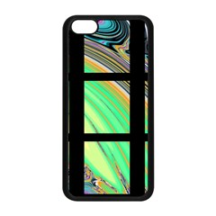 Black Window With Colorful Tiles Apple Iphone 5c Seamless Case (black) by theunrulyartist