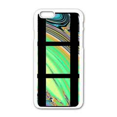 Black Window With Colorful Tiles Apple Iphone 6/6s White Enamel Case by theunrulyartist