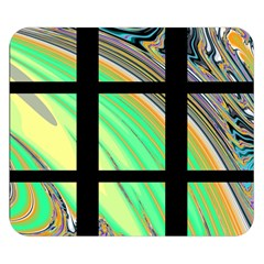 Black Window With Colorful Tiles Double Sided Flano Blanket (small)  by theunrulyartist