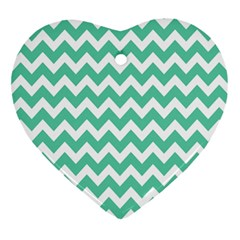 Chevron Pattern Gifts Ornament (heart)