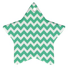 Chevron Pattern Gifts Ornament (star)