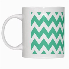 Chevron Pattern Gifts White Mugs