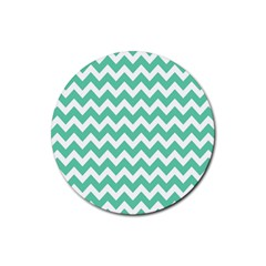 Chevron Pattern Gifts Rubber Coaster (round)