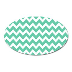 Chevron Pattern Gifts Oval Magnet