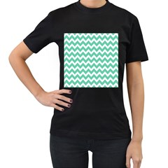 Chevron Pattern Gifts Women s T Shirt (black) (two Sided)