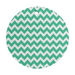 Chevron Pattern Gifts Round Ornament (two Sides)