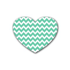 Chevron Pattern Gifts Rubber Coaster (heart)