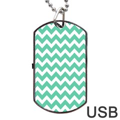 Chevron Pattern Gifts Dog Tag Usb Flash (one Side)