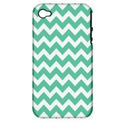 Chevron Pattern Gifts Apple Iphone 4/4s Hardshell Case (pc+silicone)