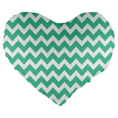 Chevron Pattern Gifts Large 19  Premium Heart Shape Cushions
