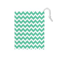 Chevron Pattern Gifts Drawstring Pouches (medium)