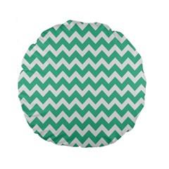 Chevron Pattern Gifts Standard 15  Premium Flano Round Cushions
