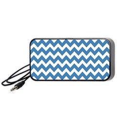 Chevron Pattern Gifts Portable Speaker (black)  by creativemom