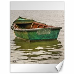 Old Fishing Boat At Santa Lucia River In Montevideo Canvas 36  X 48   by dflcprints