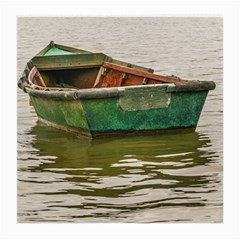 Old Fishing Boat At Santa Lucia River In Montevideo Medium Glasses Cloth (2 Side) by dflcprints
