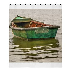 Old Fishing Boat At Santa Lucia River In Montevideo Shower Curtain 60  X 72  (medium)  by dflcprints