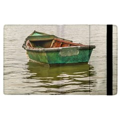 Old Fishing Boat At Santa Lucia River In Montevideo Apple Ipad 3/4 Flip Case by dflcprints