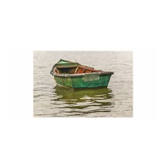 Old Fishing Boat At Santa Lucia River In Montevideo Satin Wrap by dflcprints