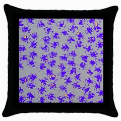 Purple Pattern Throw Pillow Cases (black) by JDDesigns