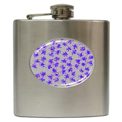 Purple Pattern Hip Flask (6 oz) by JDDesigns