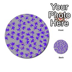 Purple Pattern Multi Purpose Cards (round)  by JDDesigns