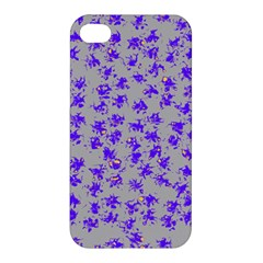 Purple Pattern Apple Iphone 4/4s Premium Hardshell Case by JDDesigns