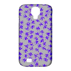 Purple Pattern Samsung Galaxy S4 Classic Hardshell Case (pc+silicone) by JDDesigns