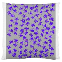 Purple Pattern Large Flano Cushion Cases (two Sides)  by JDDesigns