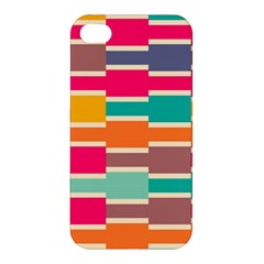 Connected Colorful Rectanglesapple Iphone 4/4s Premium Hardshell Case by LalyLauraFLM