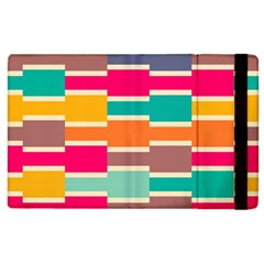 Connected Colorful Rectanglesapple Ipad 3/4 Flip Case by LalyLauraFLM