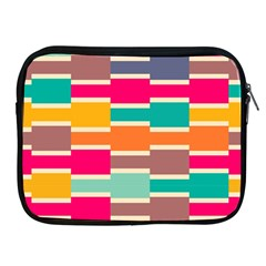 Connected Colorful Rectanglesapple Ipad 2/3/4 Zipper Case by LalyLauraFLM