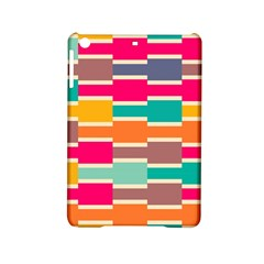 Connected Colorful Rectangles			apple Ipad Mini 2 Hardshell Case by LalyLauraFLM