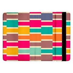 Connected Colorful Rectanglessamsung Galaxy Tab Pro 12 2  Flip Case by LalyLauraFLM