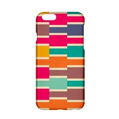Connected Colorful Rectangles			apple Iphone 6/6s Hardshell Case by LalyLauraFLM