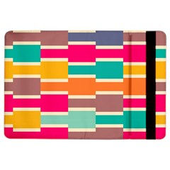 Connected Colorful Rectanglesapple Ipad Air 2 Flip Case by LalyLauraFLM