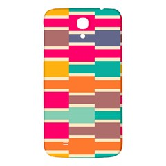 Connected Colorful Rectanglessamsung Galaxy Mega I9200 Hardshell Back Case by LalyLauraFLM