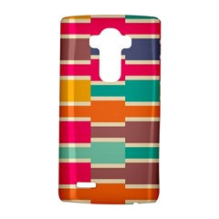 Connected colorful rectangles			LG G4 Hardshell Case by LalyLauraFLM