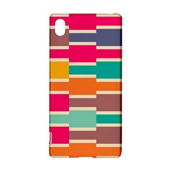 Connected Colorful Rectangles			sony Xperia Z3+ Hardshell Case by LalyLauraFLM