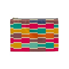 Connected Colorful Rectangles Cosmetic Bag by LalyLauraFLM