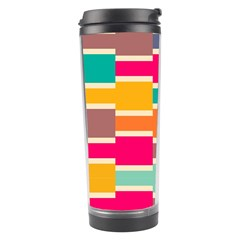 Connected Colorful Rectangles Travel Tumbler by LalyLauraFLM